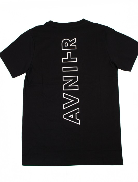 VERTICAL BLACK BLACK TEE SHIRT