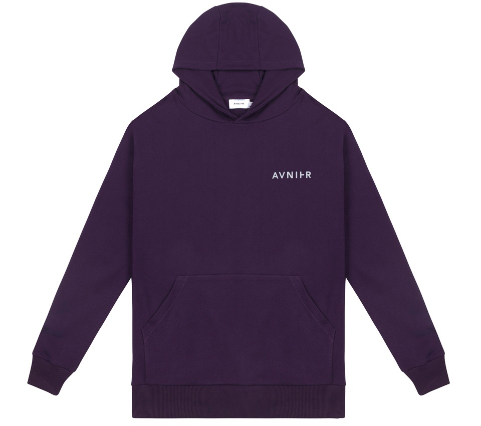 VERTICAL BACK PURPLE HOODIE