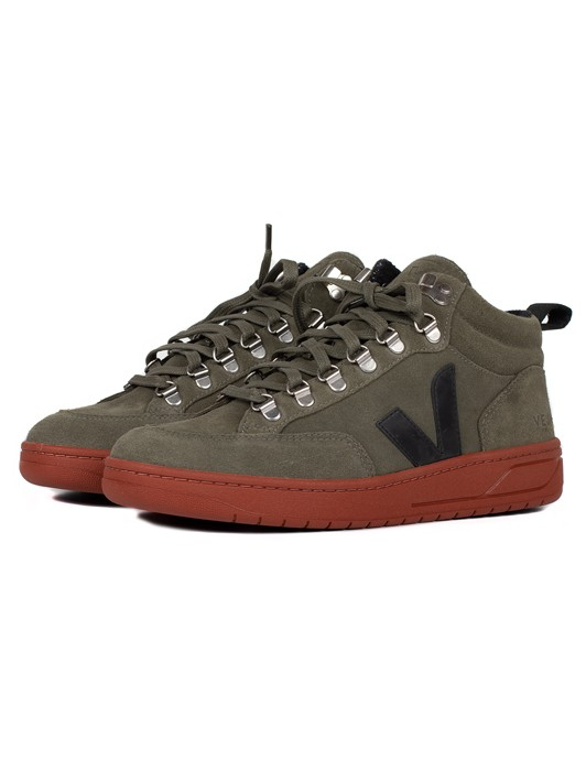 RORAIMA SUEDE OLIVE BLACK RUST SOLE