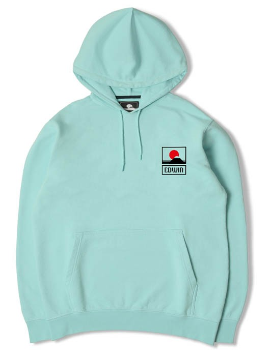 SUNSET ON MT FUJI HOODIE SWEAT HEAVY FELPA