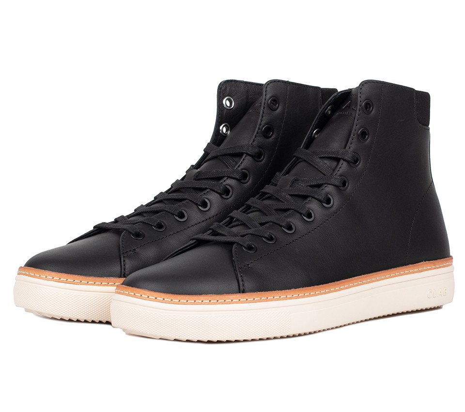 BRADLEY HIGH WELT BLACK WATER REPELLENT LEATHER