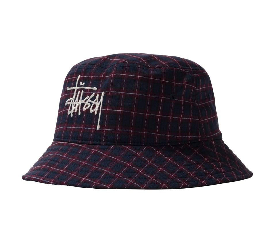 BASIC PLAID BUCKET HAT