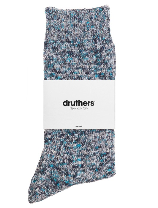 DRUTHERS RECLYDED COTTON CREW SOCKS