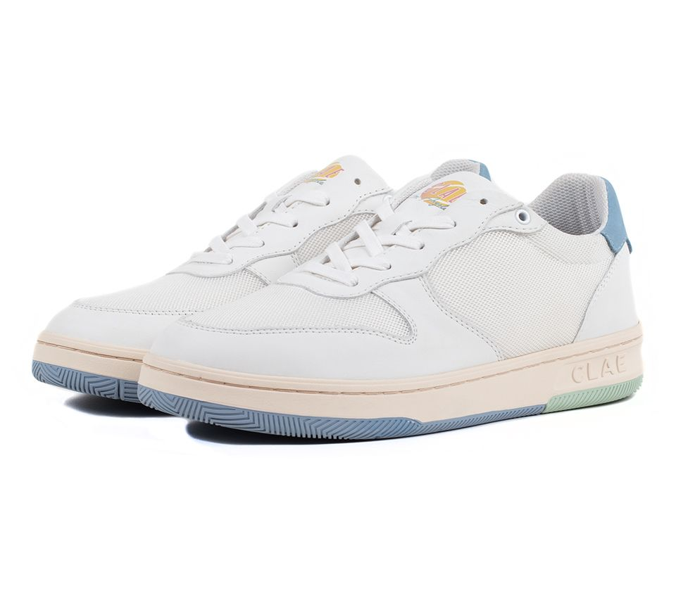 MALONE LITE WHI LEATHER BLUE GREEN